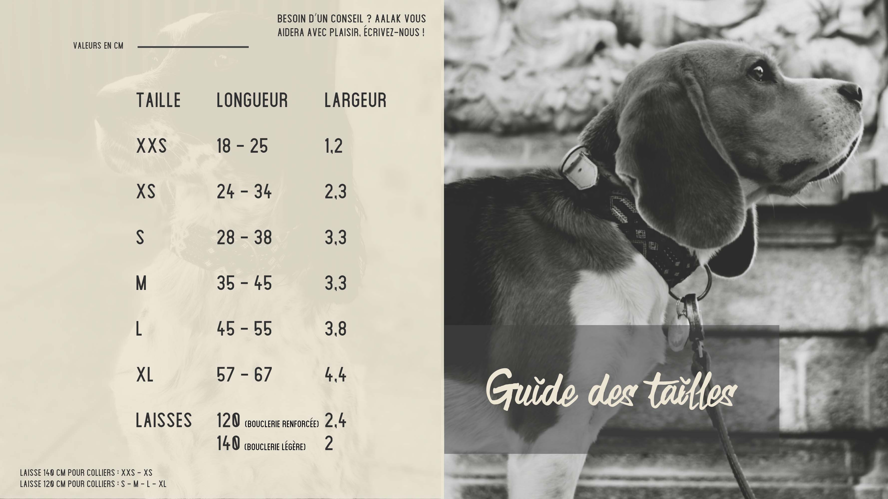 , ON GUIDE DES TAILLES